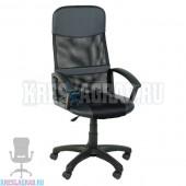 Кресло Элегант M2 (сетка черная, вставки кожзам черный)