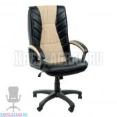 Кресло Фортуна 5 (1) (кожзам Атзек комбинированный, черно-бежевый)
