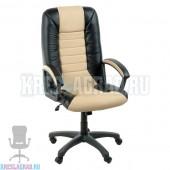 Кресло Фортуна 5 (14) (кожзам Атзек комбинированный, черно-бежевый)