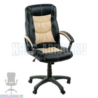 Кресло Фортуна 5 (49) (кожзам Атзек комбинированный, черно-бежевый)