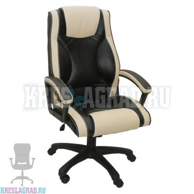 Кресло Фортуна 5 (51) (кожзам Атзек комбинированный, черно-бежевый)