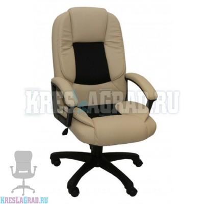 Кресло Фортуна 5 (52) (кожзам Атзек комбинированный, черно-бежевый)