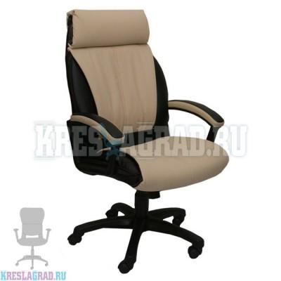 Кресло Фортуна 5 (53) (кожзам Атзек комбинированный, черно-бежевый)