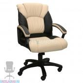 Кресло Фортуна 5 (63) (кожзам Атзек комбинированный, черно-бежевый)