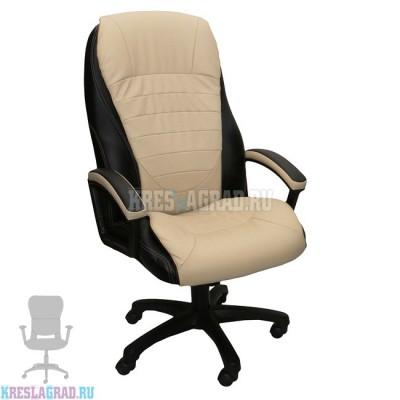 Кресло Фортуна 5 (70) (кожзам Атзек комбинированный, черно-бежевый)