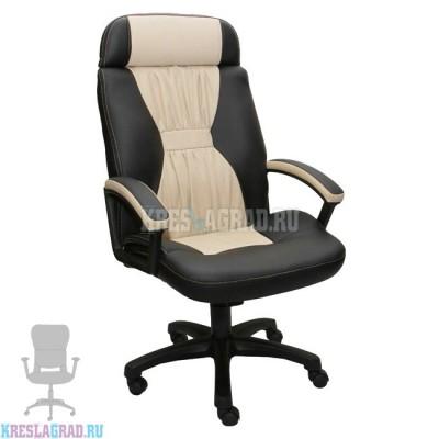 Кресло Фортуна 5 (71) (кожзам Атзек комбинированный, черно-бежевый)