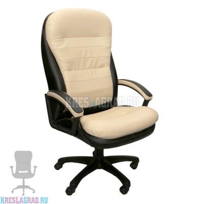 Кресло Фортуна 5 (72) (кожзам Атзек комбинированный, черно-бежевый)