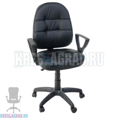 Кресло Престиж Поло Н (кожзам черный)