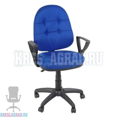 Кресло Престиж Поло Н (ткань сине-черная)