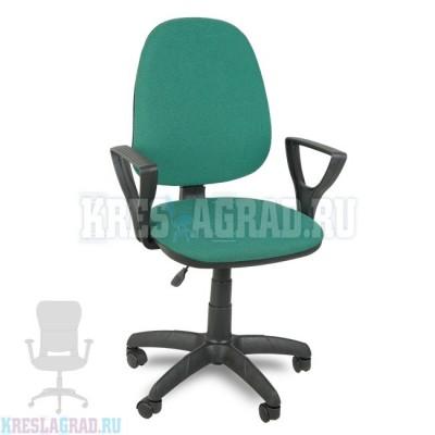 Кресло Престиж Поло (ткань зелено-черная)