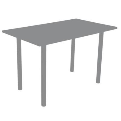 Стол прямоугольный ЛДСП (столешница 22 2911/S Зеленый гранит, подстолье белое)