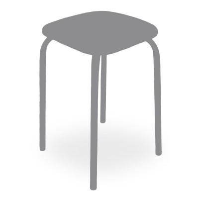 Табурет кухонный Т (каркас коричневый, ВИК Люкс 3059)