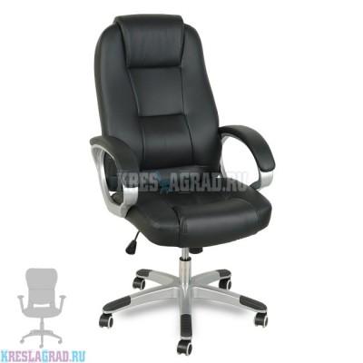 Кресло XY-866 (кожзам черный, пластик серебро)