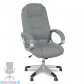 Кресло XY-866 (ткань серая, пластик серебро)