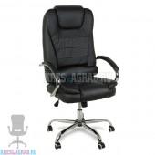 Кресло Y-2601 A (кожзам черный, хром)