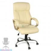 Кресло Y-2866 (кожзам бежевый, пластик золото, хром)