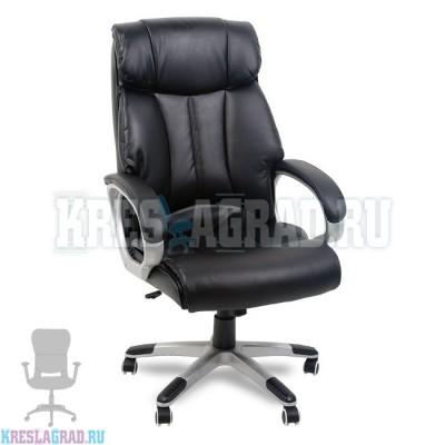Кресло Y-2866 (кожзам черный, пластик серебро)