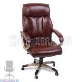 Кресло Y-2866 (кожзам бордовый, пластик золото)