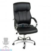 Кресло Y-2866 (кожзам черный, хром)