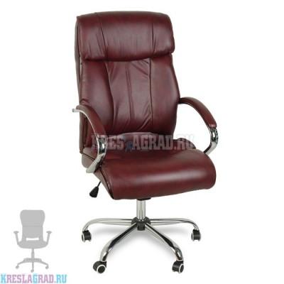Кресло Y-2866 (кожзам бордовый, хром)