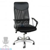 Кресло Y-9061-K (сетка черная, хром)