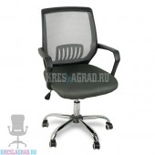 Кресло YF-930-1 (сетка темно-серая, пластик черный, хром)